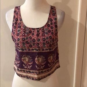 Urban Outfitters Top Floral Boho Crop